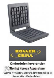 1006.933.03 - Gietijzerplaat voor wafelijzer voor model GES10 set inbouwpositie boven/onder  ROLLER GRILL
