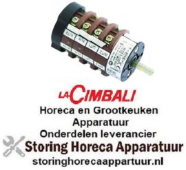 359345149 - Draaischakelaar 3 0-1-2 contactset 8 - 400 Volt - 20 Amp La-Cimbali