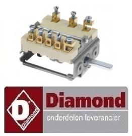539R.TCU7000.78 - Nokkenschakelaar elektrische fornuis DIAMOND E77/2P4T-N