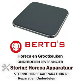 624490141 - Kookplaat maat 300x300mm - 3500W - 230V BERTOS
