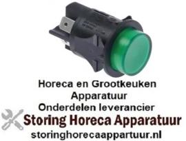 163345161 -Drukschakelaar inbouw ø 25mm groen 2NO 250V 16A verlicht