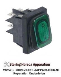 501347791 - Wipschakelaar inbouwmaat groen 230 volt