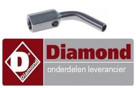 8640C3643 - Sproeierhouder gebogen ter behoeve van waakvlam voor gasfornuis DIAMOND G17/4F8T-N