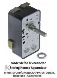 0283.00821.00 -  Tijdschakelaar G 2-polig looptijd 15 min aandrijving mechanisch 2NO bij 250V 16A