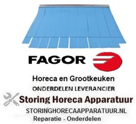 145533014- Gordijn B 620mm H 500mm materiaaldikte 1,4mm voor vaatwasser FAGOR
