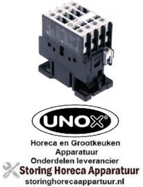 557381095 - Relais AC1 25A 230VAC (AC3/400V) 12A/5,5kW hoofdcontact 4NO UNOX