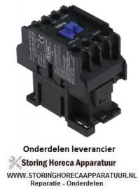 252380204 - Relais AC1 25A 230VAC (AC3/400V) 9A/4kW hoofdcontact 3NO hulpcontact 1NO