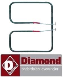 ST8D02139 - Verwarmingselement inbouwpositie onder voor wafelapparaat DIAMOND