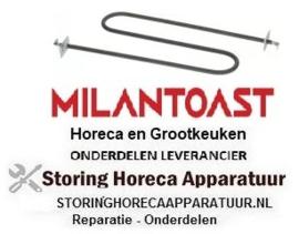 40118450 -  Boven Element Conveyor Toaster (2Lussen) MILAN TOAST