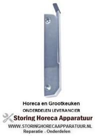 80440690808 - Hendelsluiting - L 185mm bevestigingsafstand 150mm verchroomd