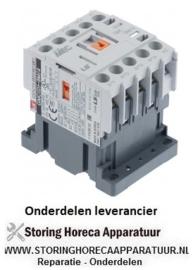 354381167 - Relais AC1 20A 230VAC (AC3/400V) 9A/4kW hoofdcontact 4NO aansluiting schroefaansluiting