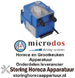673361613 - Doseerapparaat MICRODOS tijdsturing 0,5l/h 230 VAC naglansspoelmiddel slang ø 4x6mm slang silicone