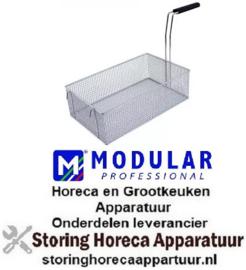 554970300 - Friteusekorf L1 390mm B1 235mm H1 120mm L2 560mm H3 300mm staal verchroomd MODULAR