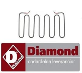 ST1D02171 -  Bovenste verwarmingselement 1200W 240V L 180mm B 320mm H 15mm pijp ø 6,5mm aansluiting F6,3 DIAMOND