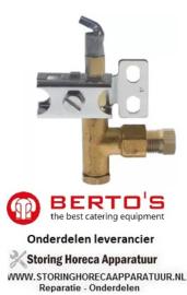 58131291300 - Waakvlambrander gasfornuis BERTOS G74MP