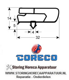 030901530 - Koeldeurrubber B 440mm L 560mm steekmaat CORECO