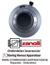 601111748 - Knop potentiometer zilver ZANOLLI
