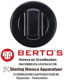 151112172 - Knop universeel ø 70mm zwart zonder adapter/symbool  BERTOS