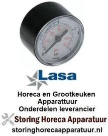 255541272 - Manometer ø 40mm drukbereik 0 tot 4bar voor vaatwasser LASA