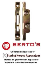 62131802500 - Tegenhouder deur L 118mm B 17mm BERTOS E7P4+FE1