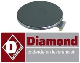 177.665.006.00 - Kookplaat ø 220mm 2600 Watt voor fornuis DIAMOND E65/4P7T