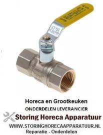 """174520286 - Kogelkraan gas recht hendelgreep ingang 1/2"""" ID uitgang 1/2"""""""