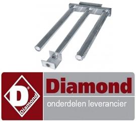 17667202900 - Staafbrander 3-rijen voor bakplaat DIAMOND
