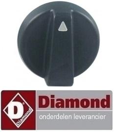 647030132 - Knop zwart kippengrill DIAMOND RVG/112-CM