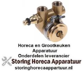 "575499153 - Drukverhogings pompkop CB054 FLUID-O-TECH L 62mm 50l/h aansluiting 3/8"" GAS met modulator koper"