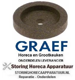 166697574 - Slijpsteen ø 45mm dikte 10mm boring ø 8mm korreling fijn met fase, zonder naaf voor snijmachine GRAEF