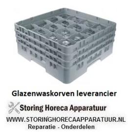 388972126 - Glazenwaskorf CAMBRO L 500mm B 500mm aantal glazen 16 H 224mm werklengte 206mm compartiment G 111x111mm