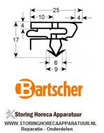 060030012200 - Koeldeurrubber profiel 9399 B 415mm L 430mm steekmaat BARTSCHER