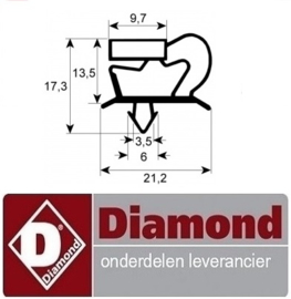 58841801030 - RUBBER VOOR LADE CA1/2-PM DIAMOND