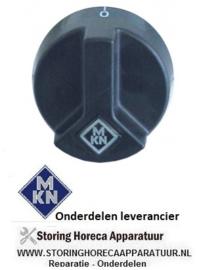 233209909 - Knop aan-uit ø 54mm as ø 6x4,6mm afvlakking boven zwart MKN