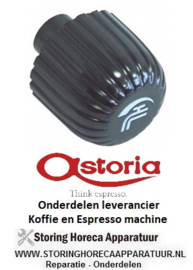 3331.111.57 - Knop water ø 46 mm zwart koffie machine ASTORIA