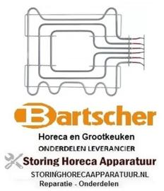 384416785 - Verwarmingselement 1800W 230/400V VC 3 L 515mm B 452mm L1 57mm L2 458mm B1 162mm B2 128mm BARTSCHER