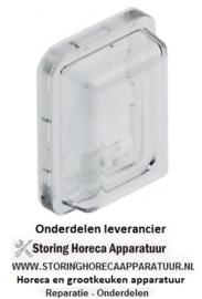 075346541 - Beschermkap voor wipschakelaar buitenmaat 23,4x17,4mm binnenmaat 19x13mm H 9,5mm CAPIC