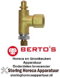 105100998 - Waakvlambranderonderstuk sproeier ø 0,21mm passend voor flessengas BERTOS