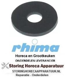 075511943 -Vlakpakking rubber OD ø 24mm ID ø 8mm materiaaldikte 2mm RHIMA