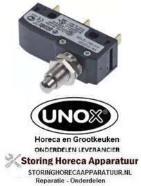 183347945 - Microschakelaar met drukstift pen bediend 250V 5A UNOX