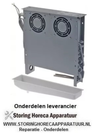 176750780 - Verdamper L 400mm H 415mm dikte 83mm inbouwpositie zijdelings 230V met bak 50Hz