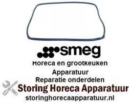 121754131883 - Deurrubber B 450mm H 330mm met 4 bevestigingshaken voor oven SMEG
