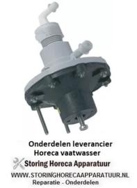 123361002 - Naglansdoseerder glansspoelmiddel ingang 6x8mm uitgang 4x6mm drukaansluiting ø 4x6mm