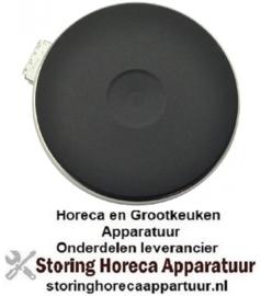 VE1031218453014 - Kookplaat 1.500 Watt - 110 Volt - Ø180mm met 8mm rvs rand