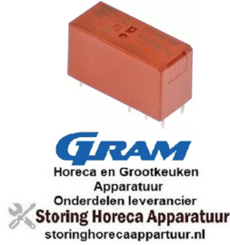 378381168 - Printrelais 230VAC 2CO 2-polig bij 250V 8A - GRAM