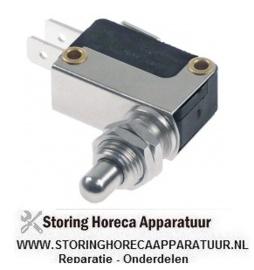 863345032 - Microschakelaar met drukstift pen bediend 250V 16A