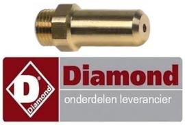 401106650 - Gasinspuiter voor lavasteengrill propaan / flessengas DIAMOND G60/GPL3T