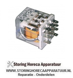 358380184 - Vermogensrelais FINDER 230VAC 16A 3CO aansluiting F4,8 roostermaat 10mm steekaansluiting