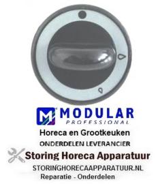 551110672 - Knop gaskraan zonder ontstekingsvlam ø 62mm as ø 8x6,5mm MODULAR