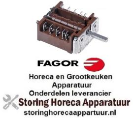 VE968301109 - Nokkenschakelaar 2 schakelstanden 4NO schakelvolgorde 0-1 16A  FAGOR